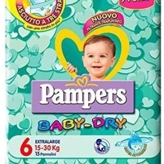 Pampers Baby Dry 6 XL 15-30 kg - 19 Pannolini
