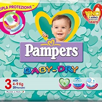 Pampers Baby Dry 3 Midi 4-9 kg - 20 Pannolini