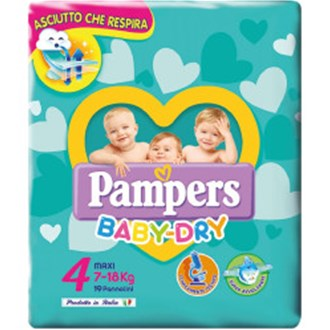Pampers Baby Dry 4 Maxi 7-18kg - 19 Pannolini