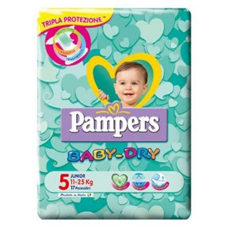 Pampers Baby Dry 5 Junior 11-25 kg - 17 Pannolini